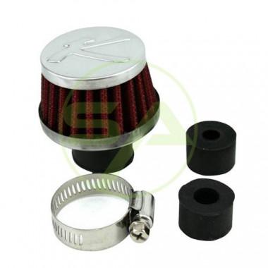 Filtre reniflard en coton Bratex, diamètre max 25 mm.