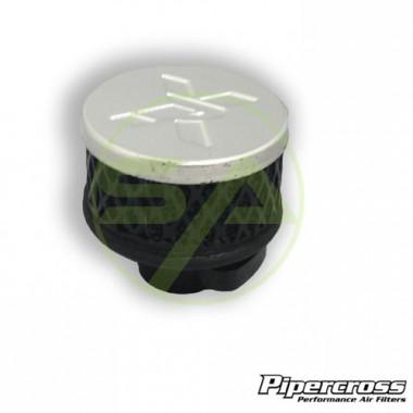 Filtre reniflard en mousse Pipercross entrée caoutchouc , couleur argent, diamètre 13-19 mm