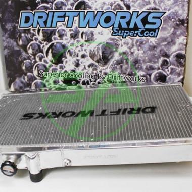 Radiateur d'eau aluminium Driftworks pour Toyota Supra Mk4 de 1993 à 1998