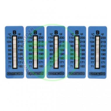 Indicateurs de température de 160°C à 198°C. Contient 10 autocollants.