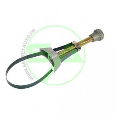 Clé de filtre à huile avec sangle métallique de 65 à 105 mm
