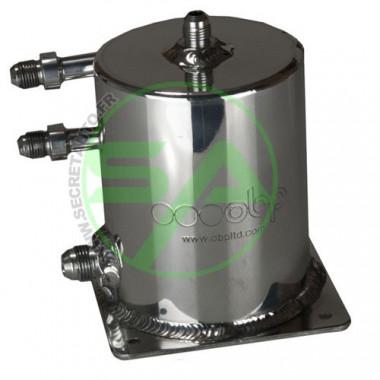 Réservoir tampon OBP en aluminium universel diamètre 100 mm, 4 sorties JIC