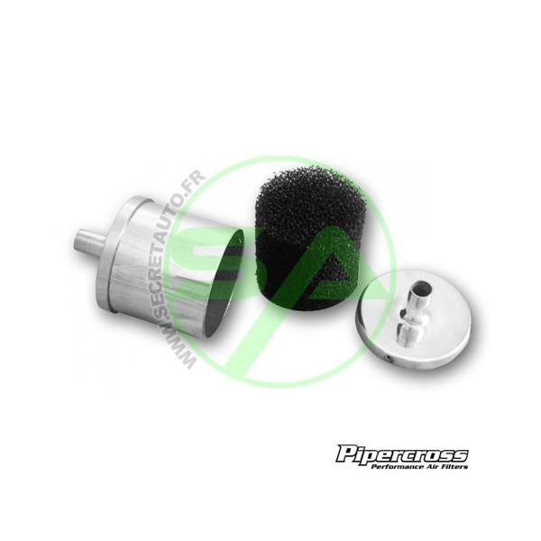 Kit de rétention d'huile Pipercross avec filtre mousse et 3 adaptateurs 13, 16 et 19 mm