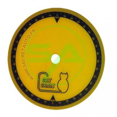 Disque gradué Cat Cams en plastique diamètre 150 mm