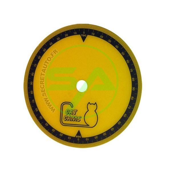 Disque gradué Cat Cams en plastique diamètre 205 mm