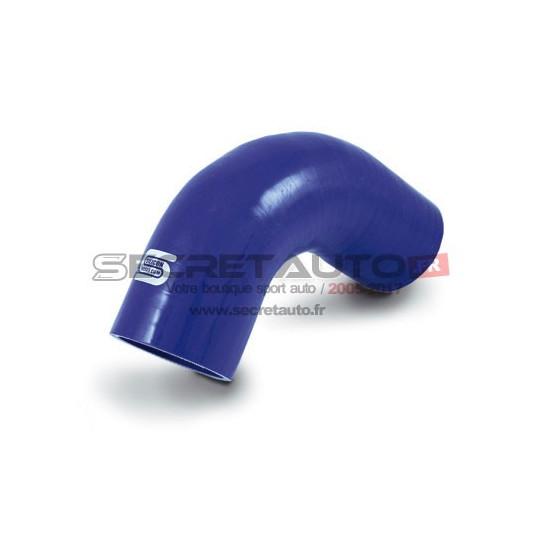 Coude silicone 90° Silicon Hoses, couleur bleu