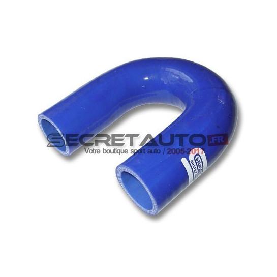 Coude silicone 180° Silicon Hoses, couleur bleu