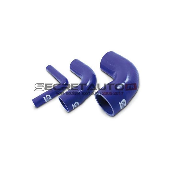Coude réducteur 90° silicone Silicon Hoses, couleur bleu