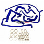 Kit durites silicone Redox d'eau de couleur bleu pour PEUGEOT 205 GTI XU5JA et XU9JA avant 1991 (avec modine)