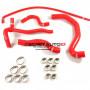 Kit durites silicone Redox d'eau de couleur rouge pour Peugeot 206 S16 2.0 16s 136cv