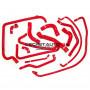 Kit durites silicone Redox d'eau de couleur rouge pour Peugeot 309 GTI 16s