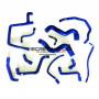 Kit durites d'eau Redox silicone de couleur bleu pour Renault R21 2.0 Turbo