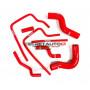 Kit durites silicone Redox d'eau de couleur rouge pour Subaru Impreza WRX STI (GC8) EJ20 1996 - 2000