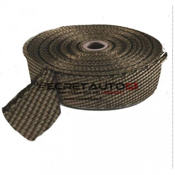 Bande thermique titanium Bratex pour collecteur d'échappement.