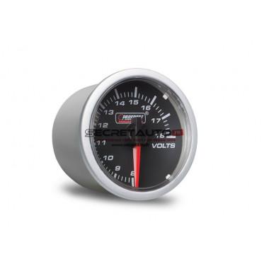 Manomètre voltmètre Prosport Clear Lens Series Ø52mm