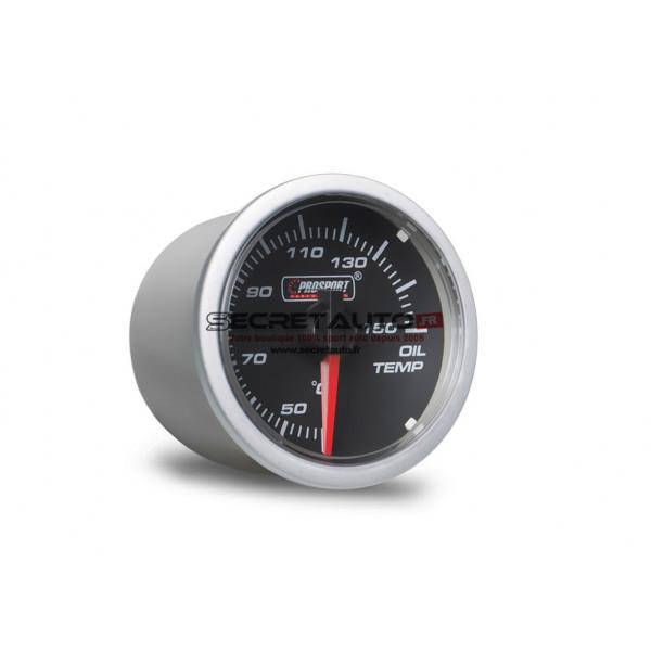 Manomètre de température d'huile Prosport Clear Lens Series Ø52mm