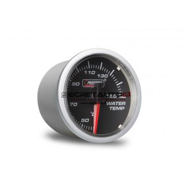Manomètre de température d'eau Prosport Clear Lens Series en diamètre 52 mm