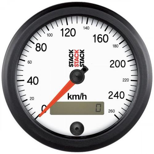 Manomètre Stack Ø88 mm - Compteur de vitesse 0 à 260km / h