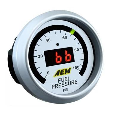Manomètre pression d'essence (0-100 PSI) digital AEM
