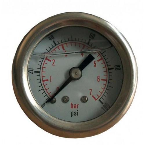 Manomètre haute pression de 1 à 7 bars glycériné pour régulateur Sytec (option)