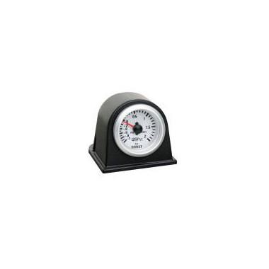 Support tableau de bord manomètre noir Ø52mm pour 1 manomètre