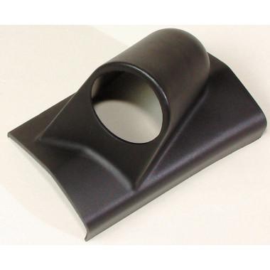 Support de pare brise gauche manomètre noir Ø52mm pour 1 manomètre