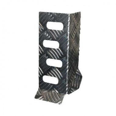 Cale pieds Bratex en aluminium gaufré pour pilote