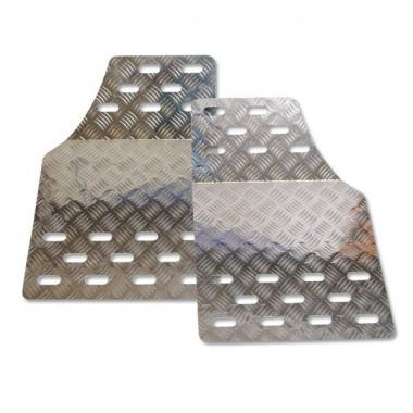 Plancher universel en aluminium avec grain de riz anti-dérapant.