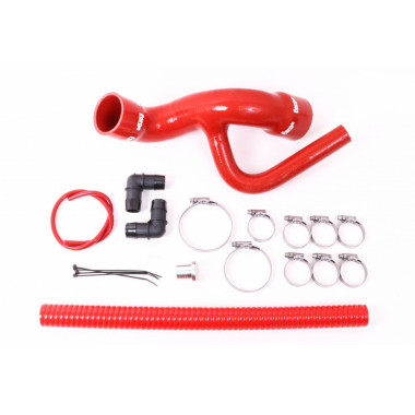 Kit durites silicone rouge Forge Motorsport pour déplacement dump valve Audi TT (8N / MK1) 1,8 turbo 225cv de 1998 à 2006
