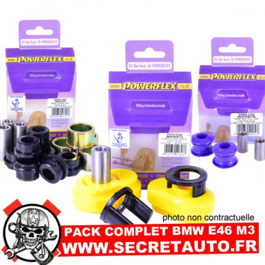 Pack complet de silentblocs Powerflex pour Bmw E46 M3