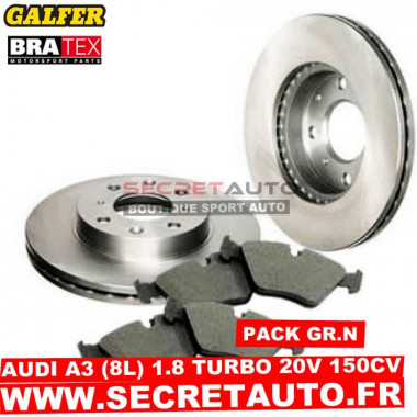 Pack freinage Groupe N pour Audi A3 (8L) 1.8 20s Turbo 150cv.