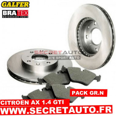 Pack freinage Groupe N pour Citroen AX 1.4 GTI.