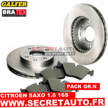 Pack freinage Groupe N pour Citroen Saxo 1.6 16s.