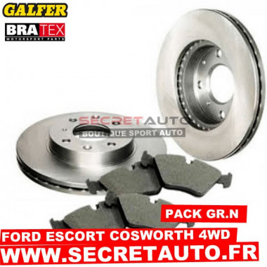 Pack freinage Groupe N pour Ford Escort Cosworth 4 roues motrices.