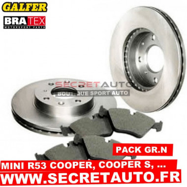 Pack freinage Groupe N pour Mini R53.