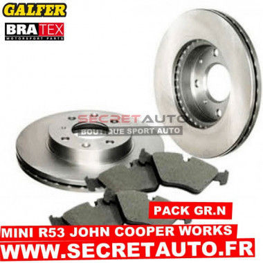 Pack freinage Groupe N pour Mini R53 John Cooper Works.