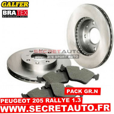 Pack freinage Groupe N pour Peugeot 205 Rallye 1.3.