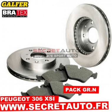 Pack freinage Groupe N pour Peugeot 306 XSI.