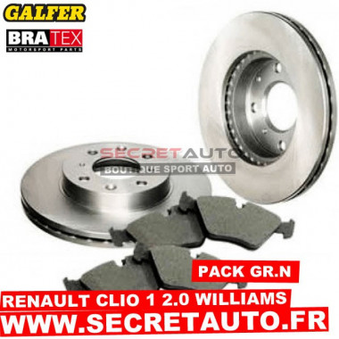 Pack freinage Groupe N pour Renault Clio 1 2.0 Williams.