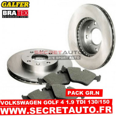 Pack freinage Groupe N pour Volkswagen Golf 4 1.9 TDI 130 - 150cv.