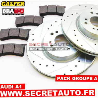 Pack freinage Groupe A pour Audi A1 (disque 288 mm).