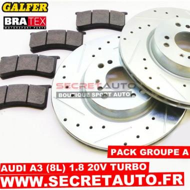 Pack freinage Groupe A pour Audi A3 (8L) 1.8 20s Turbo 150cv.