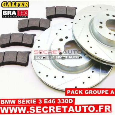 Pack freinage Groupe A pour Bmw Série 3 E46 330D.