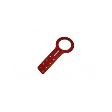 Crochet de traction plat en aluminium Bratex / Speedpro