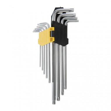 Jeu de 9 clefs expert T10 à T50 avec support de rangement fourni