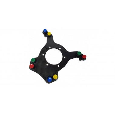 Platine pour volant carbone avec 2 boutons