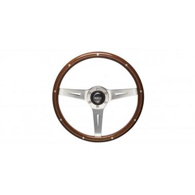 Volant Sparco Sanremo en bois verni pour véhicules vintages