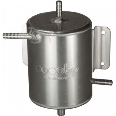 Réservoir tampon OBP en aluminium universel diamètre 100 mm, 4 sorties 10 mm.