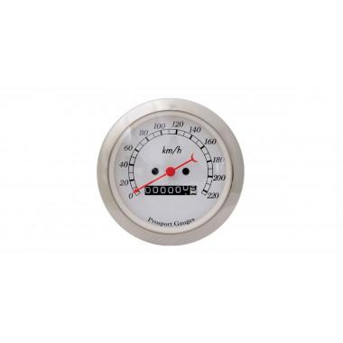 Manomètre compteur de vitesse Prosport Classic mécanique référence CT-VIT-M-BL