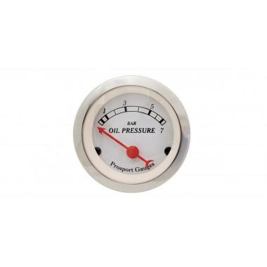 Manomètre de pression d'huile Prosport Classic électrique référence CT-PH-003-BL